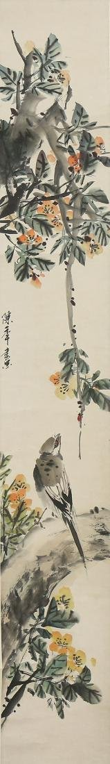 Chinese Scrolls, Flowers, Manner of Shi Lu - 2