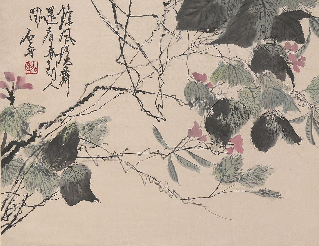 Chinese Scrolls, Flowers, Manner of Shi Lu - 3