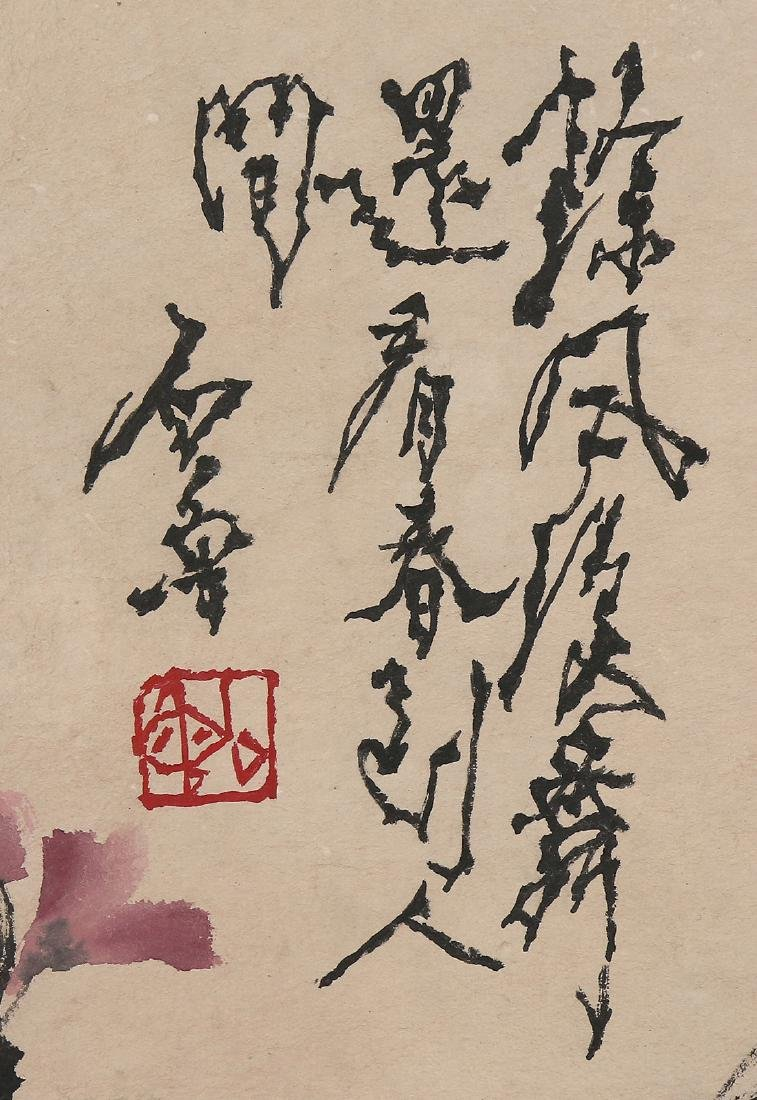 Chinese Scrolls, Flowers, Manner of Shi Lu - 5