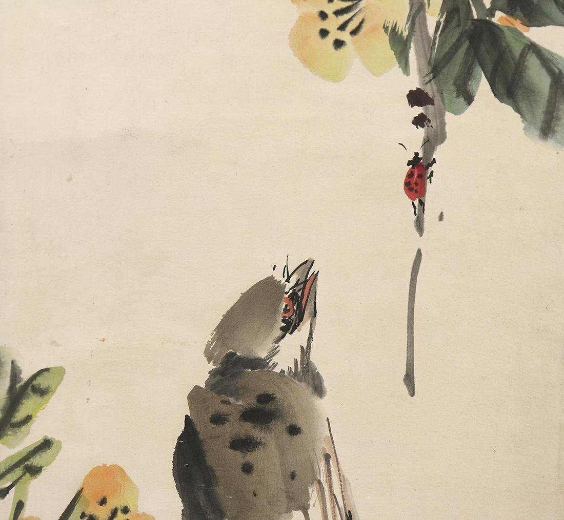 Chinese Scrolls, Flowers, Manner of Shi Lu - 8