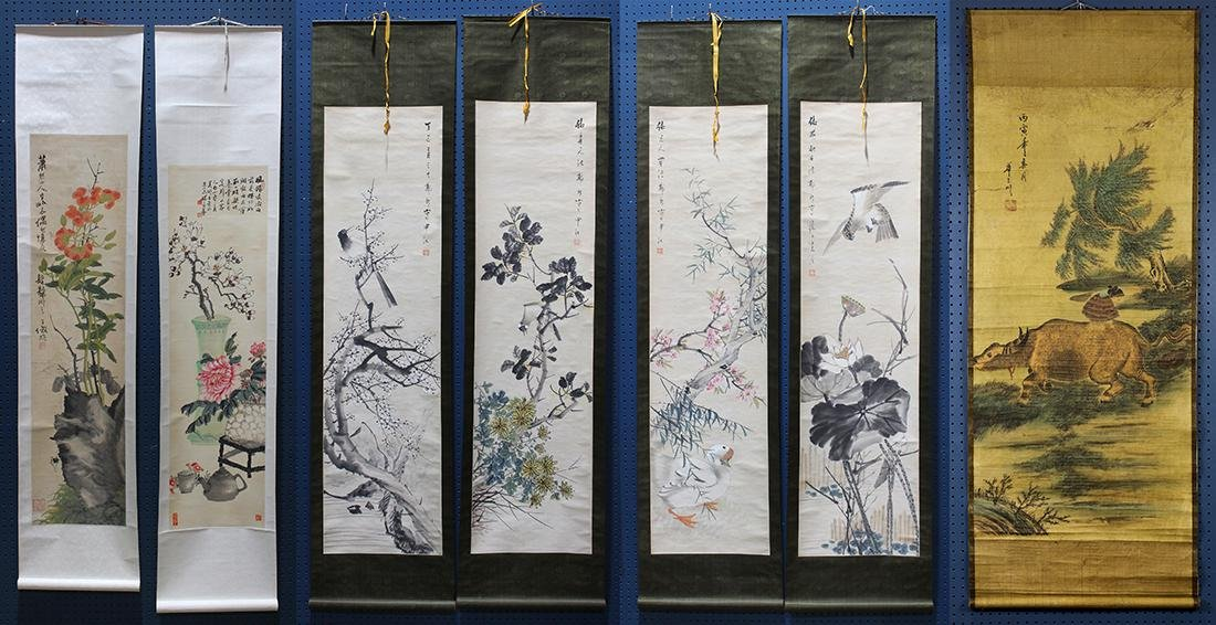 Chinese Scrolls, Flowers of the Four Seasons