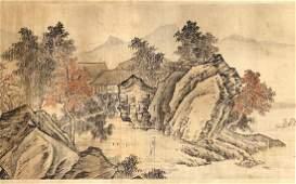 Chinese Handscroll, Manner of Zhou Chen, Landscape