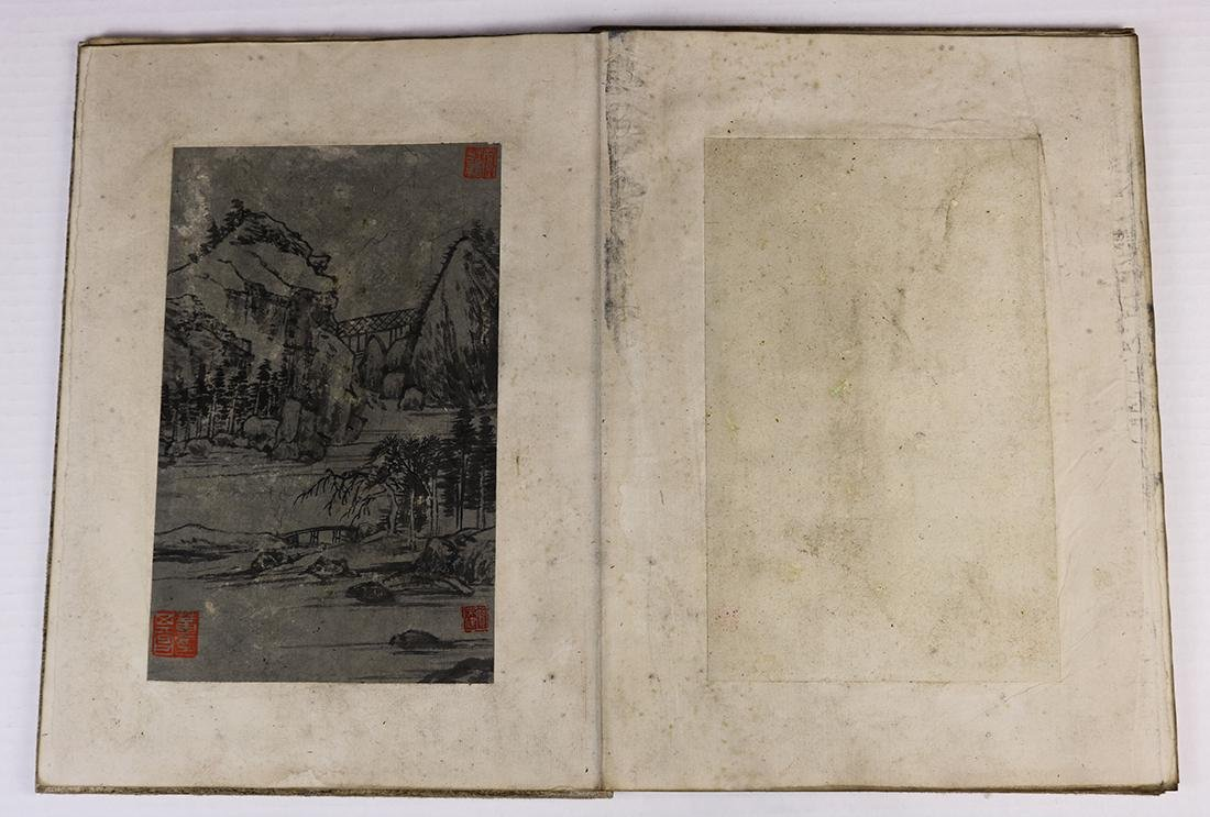 Chinese Albums, Landscape; Stele Rubbing - 10