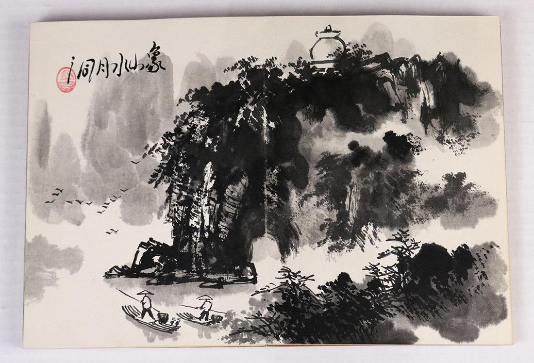 Chinese Albums, Landscape; Stele Rubbing - 3