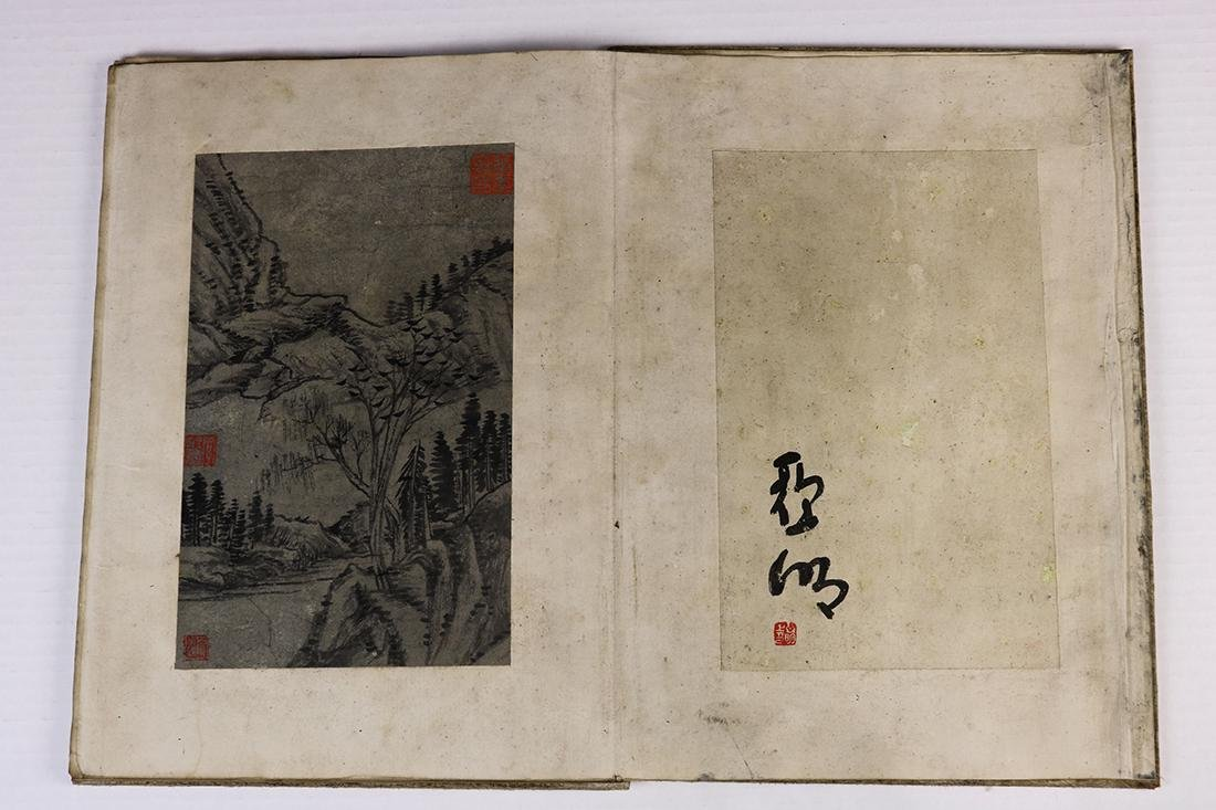 Chinese Albums, Landscape; Stele Rubbing - 7