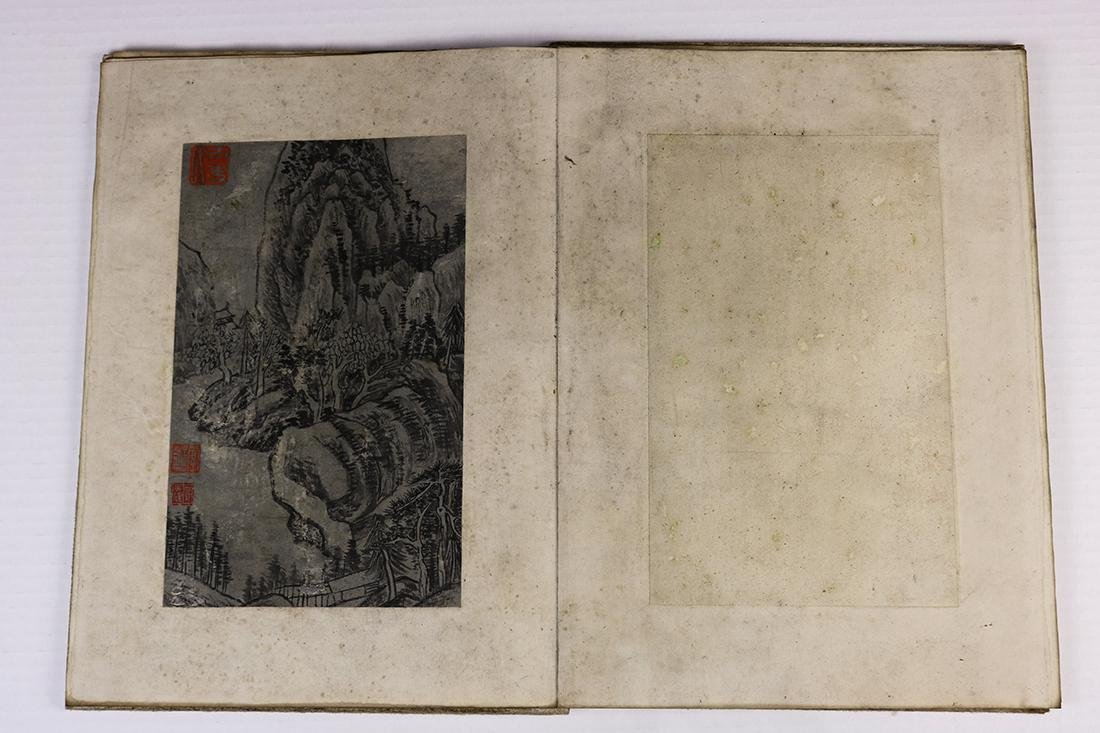 Chinese Albums, Landscape; Stele Rubbing - 9