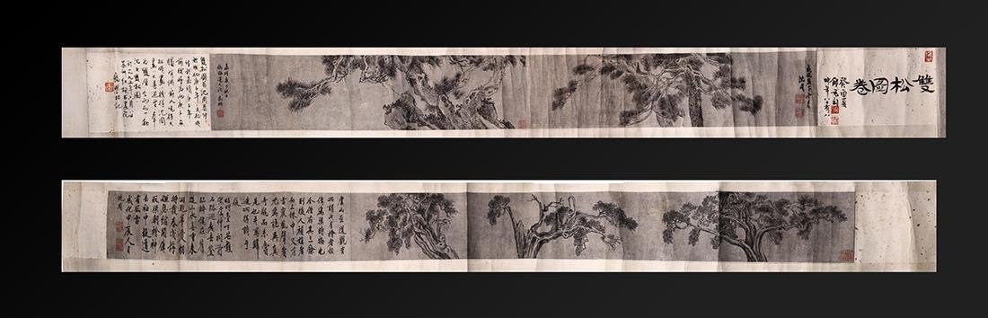 Chinese Scrolls, Manner of Shen Zhou, Pine Trees