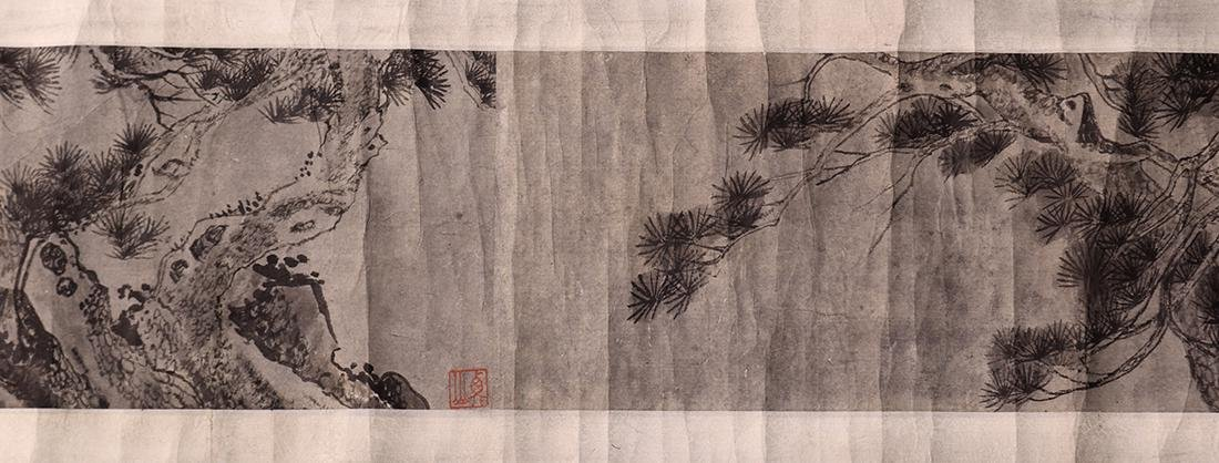 Chinese Scrolls, Manner of Shen Zhou, Pine Trees - 2