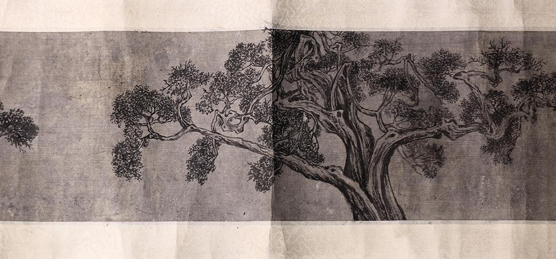 Chinese Scrolls, Manner of Shen Zhou, Pine Trees - 6