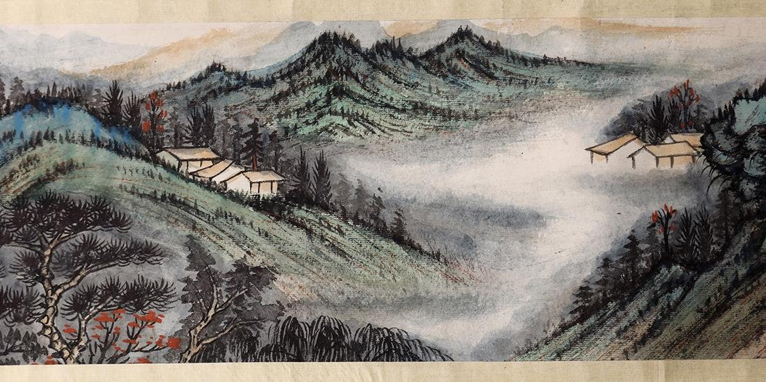 Chinese Scroll, Manner of Zhang Daqian, Landscape
