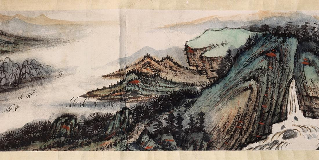 Chinese Scroll, Manner of Zhang Daqian, Landscape - 7