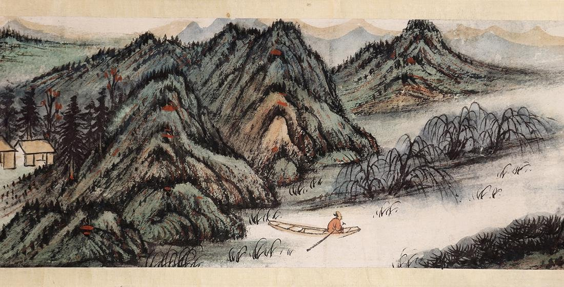 Chinese Scroll, Manner of Zhang Daqian, Landscape - 8