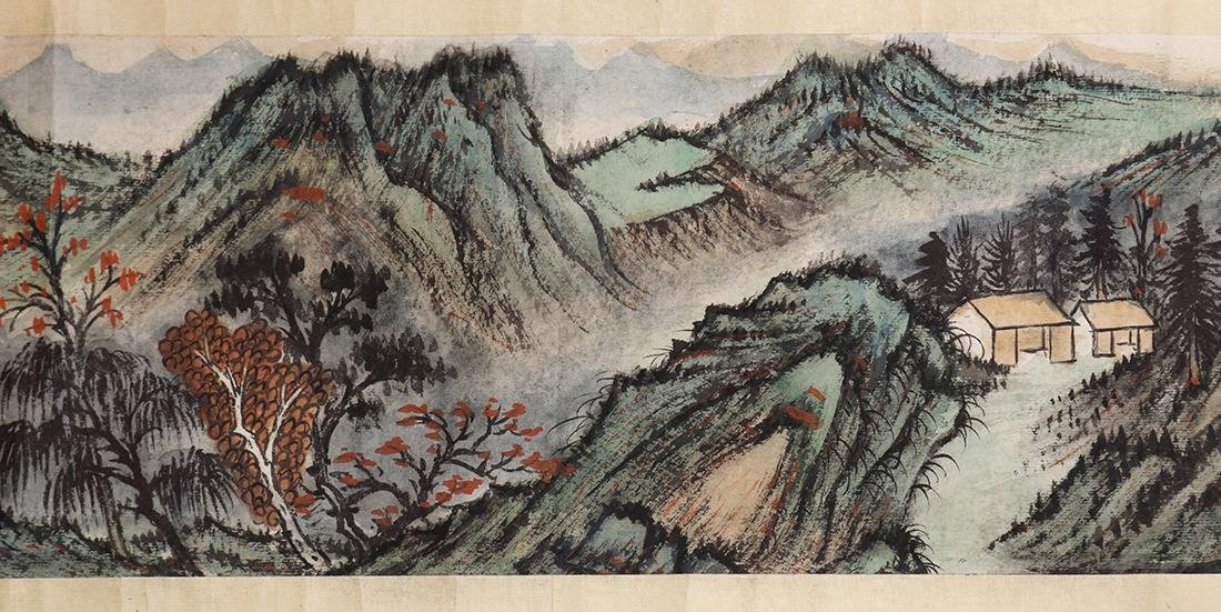 Chinese Scroll, Manner of Zhang Daqian, Landscape - 9
