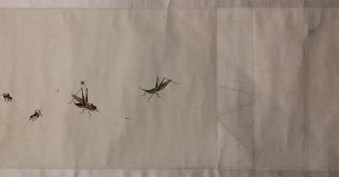 Chinese Handscroll, Manner of Qi Baishi, Insects