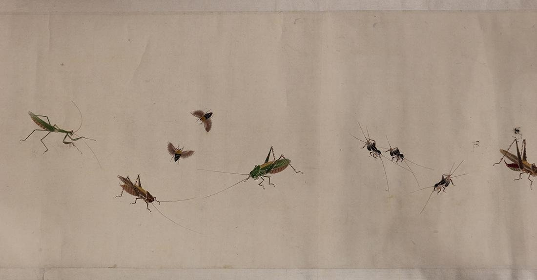 Chinese Handscroll, Manner of Qi Baishi, Insects - 2