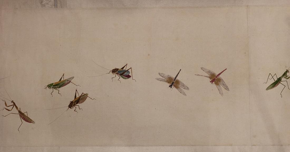Chinese Handscroll, Manner of Qi Baishi, Insects - 4