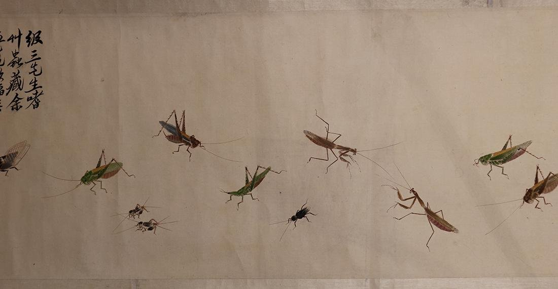 Chinese Handscroll, Manner of Qi Baishi, Insects - 5