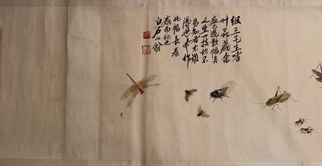 Chinese Handscroll, Manner of Qi Baishi, Insects - 6