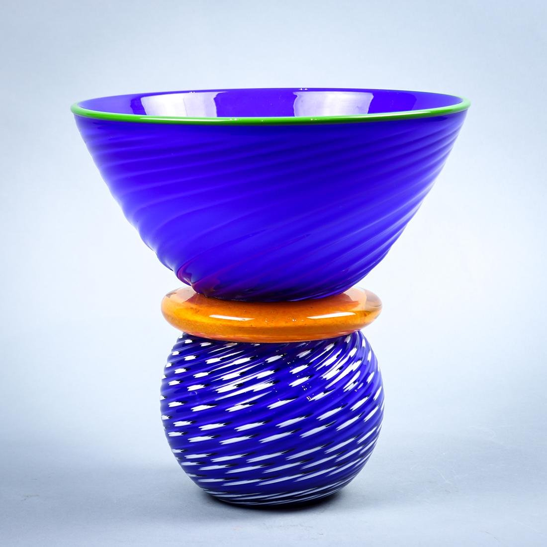 Gordon Pizzichillo art glass vase