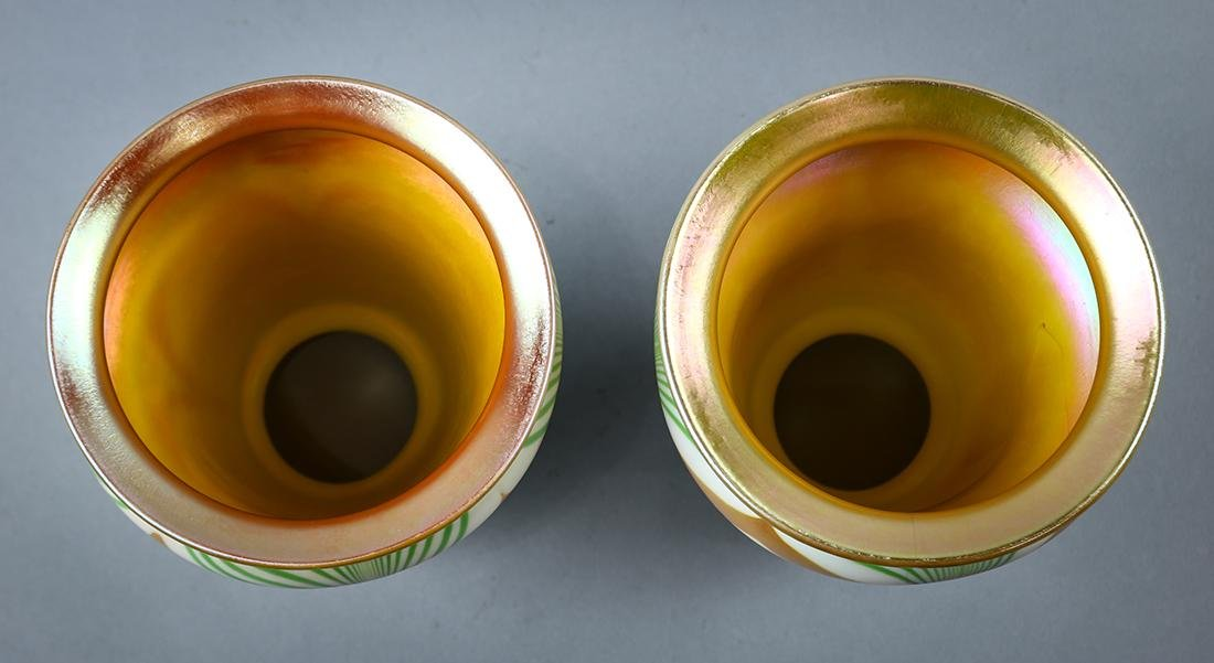 Pair of Steuben art glass shades, early 20th century, - 4