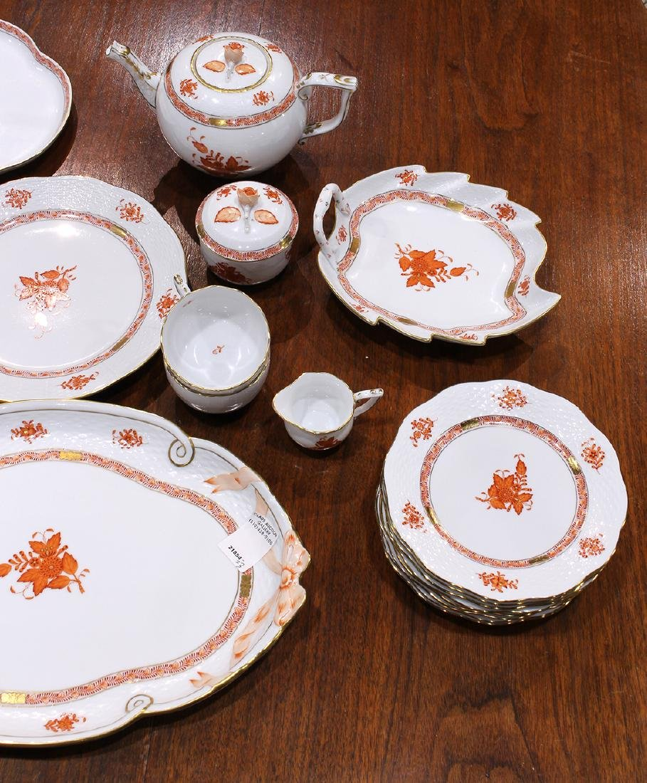 Herend partial table service in the Asian Bouquet - 2
