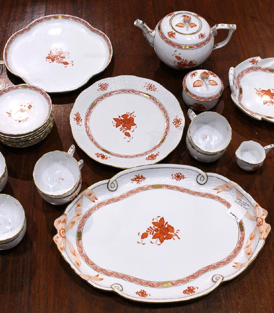 Herend partial table service in the Asian Bouquet - 3