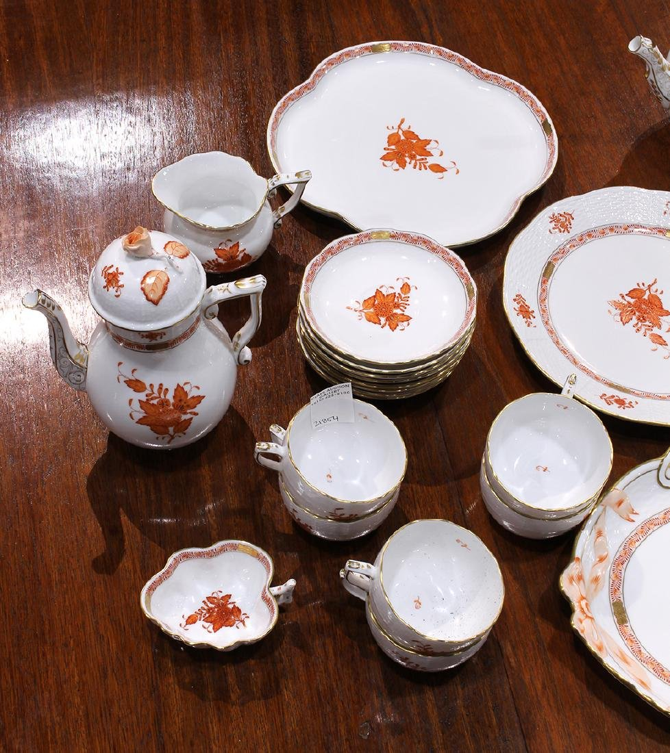 Herend partial table service in the Asian Bouquet - 4