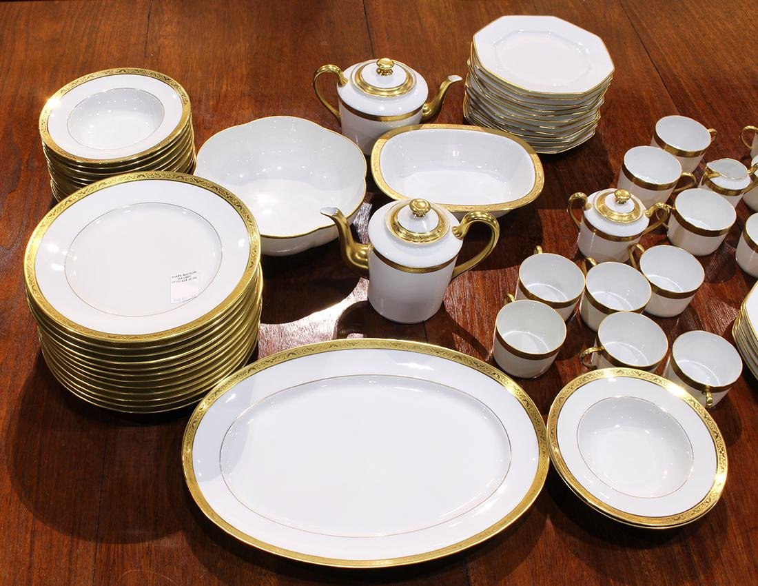 """French Limoges Raynaud """"Ambassador Gold"""" table service - 3"""