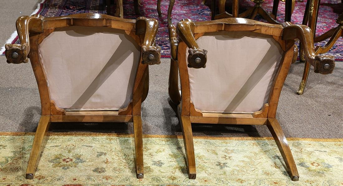 Pair of Chippendale style arm chairs - 10