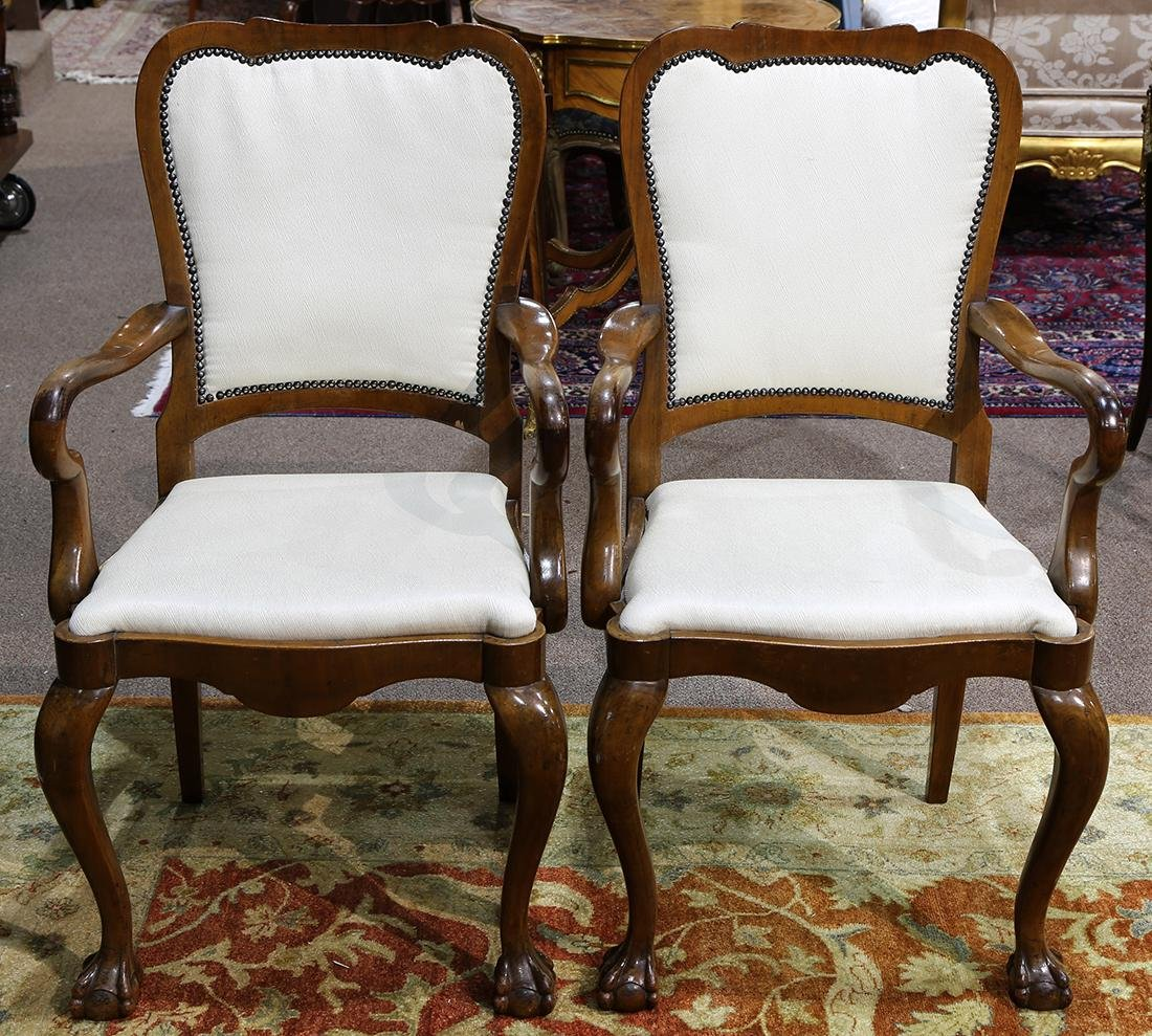Pair of Chippendale style arm chairs