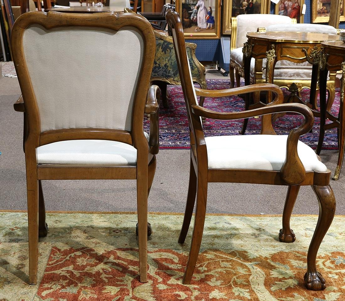 Pair of Chippendale style arm chairs - 3