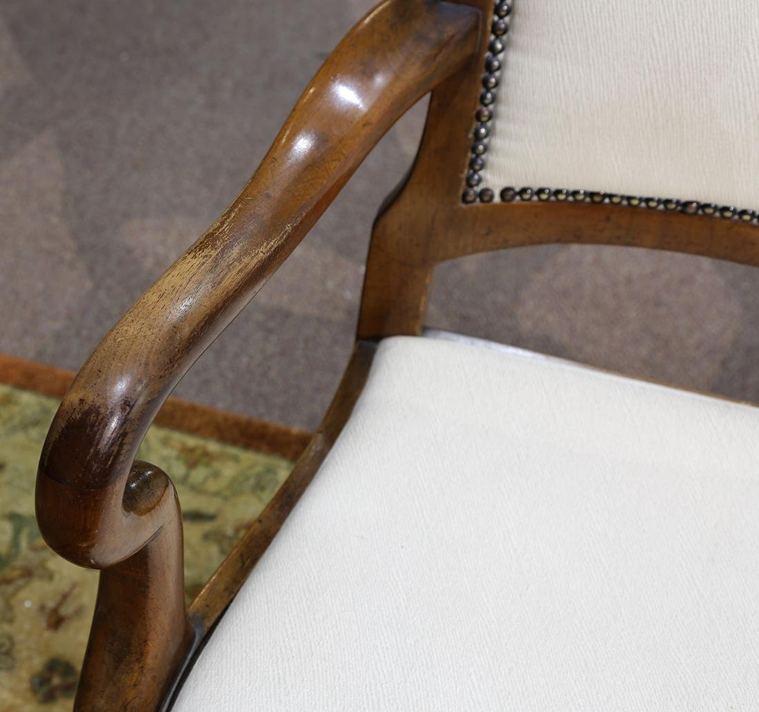Pair of Chippendale style arm chairs - 7