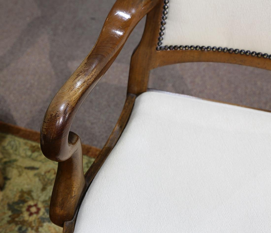 Pair of Chippendale style arm chairs - 8
