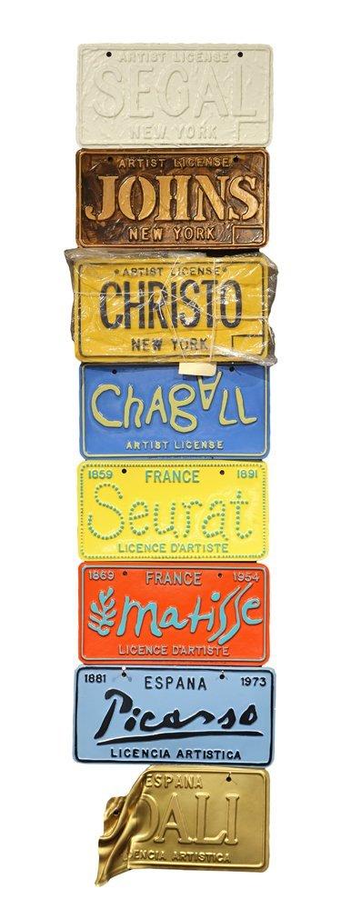 Artist License Plates, Gregory Constantine