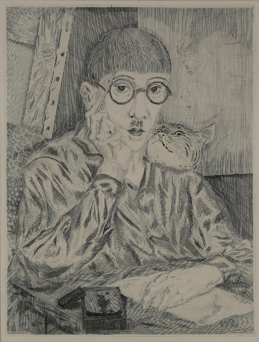 Print, Leonard Foujita
