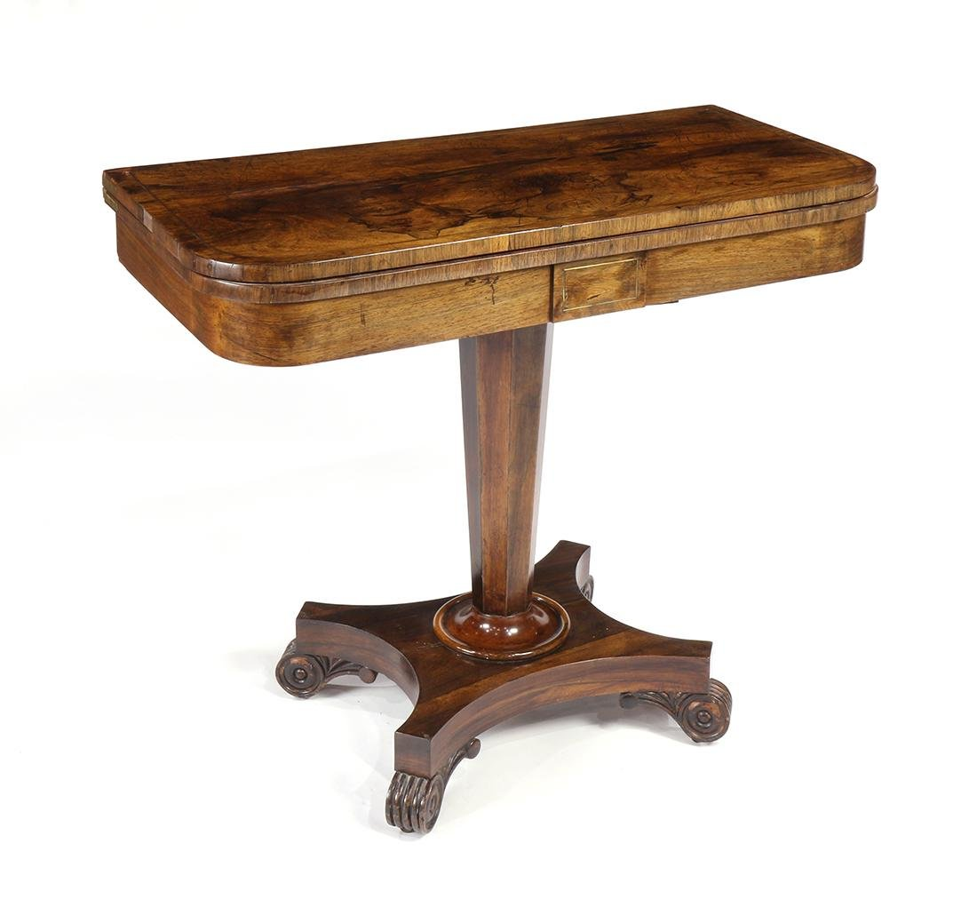 Regency rosewood games table