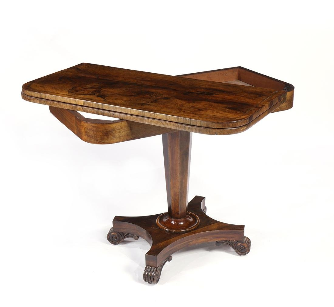 Regency rosewood games table - 2