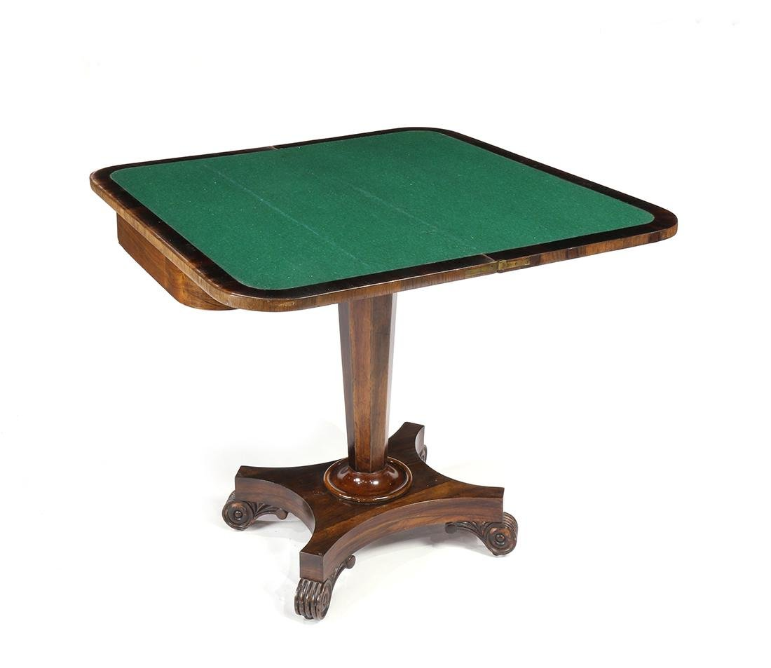 Regency rosewood games table - 3