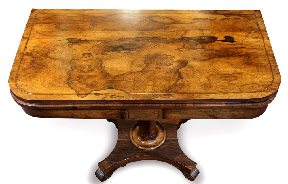 Regency rosewood games table - 6