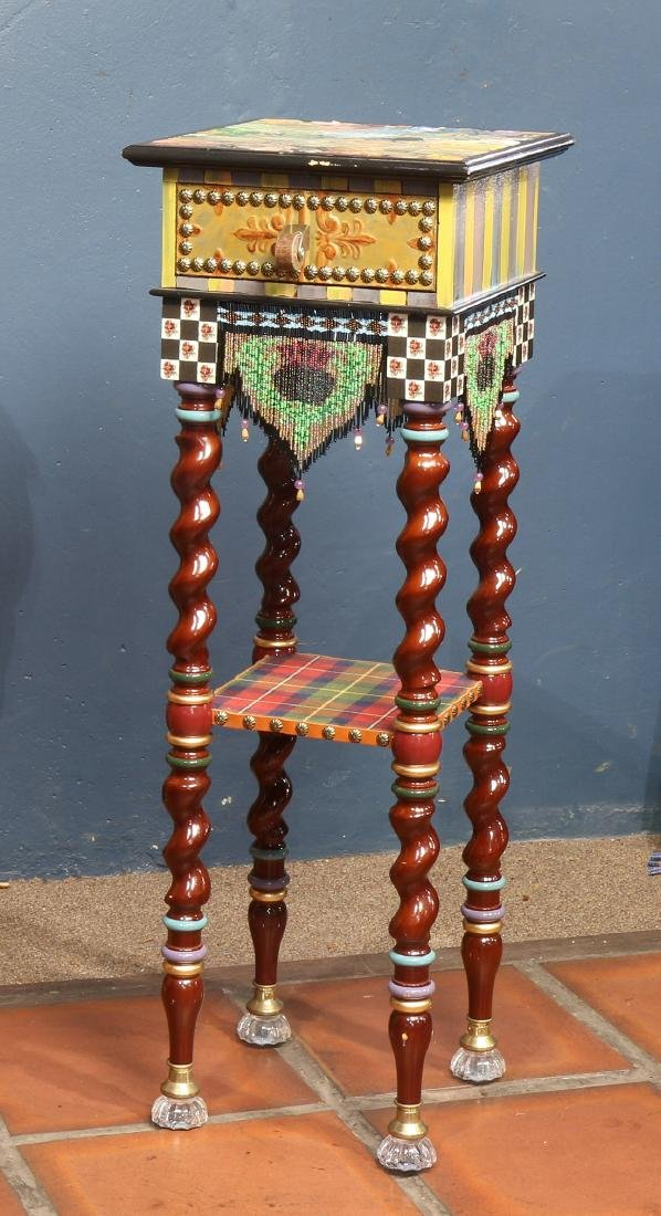 Custom two tier side table