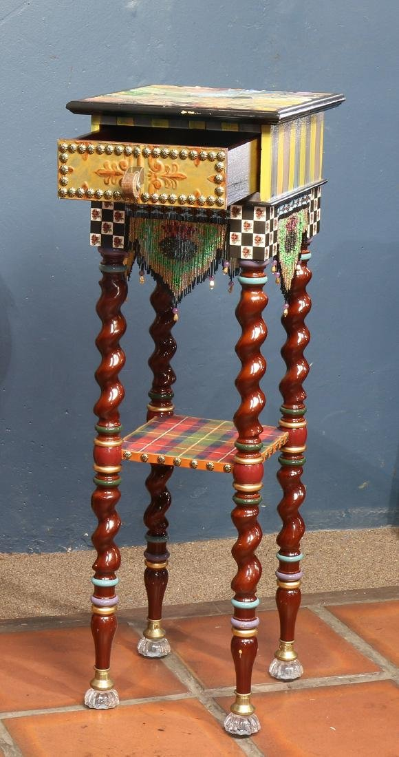 Custom two tier side table - 2