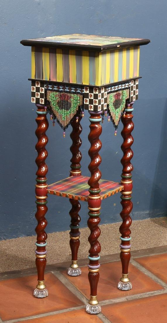 Custom two tier side table - 4