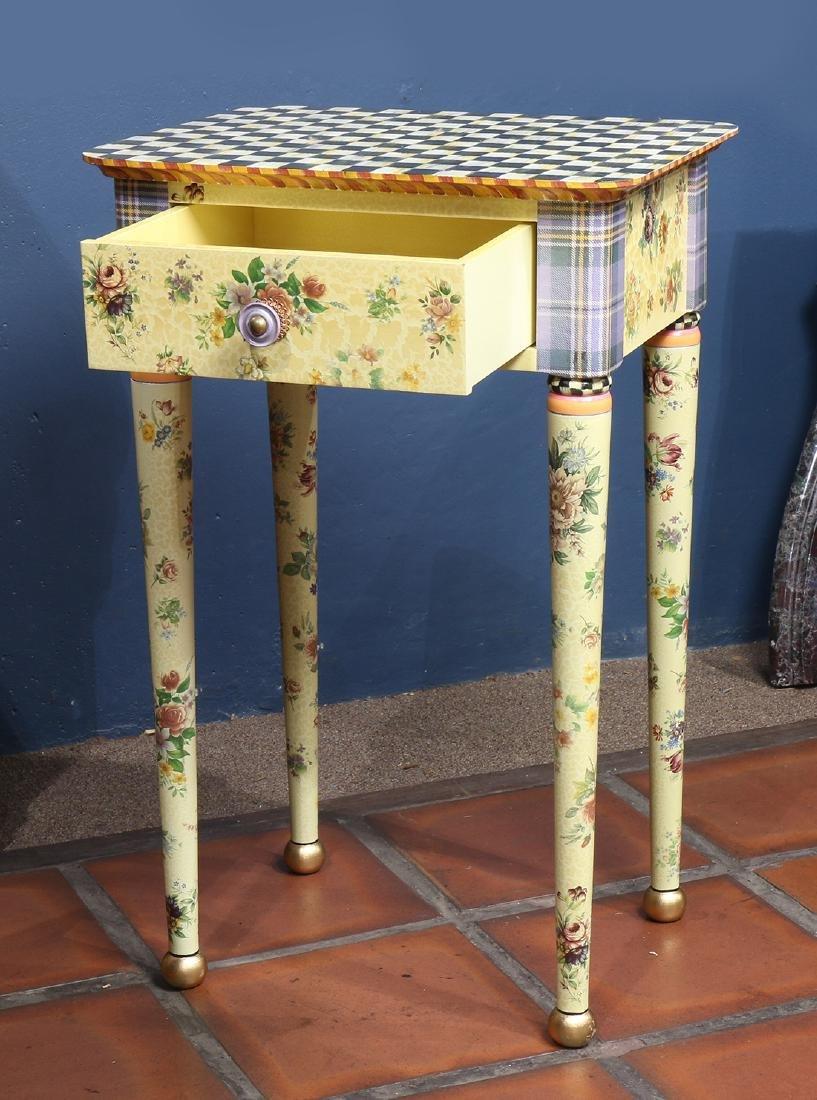 Custom hand painted side table