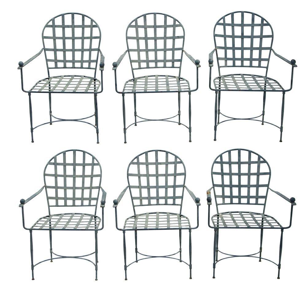 Mario Papperzini for John Salterini iron armchairs