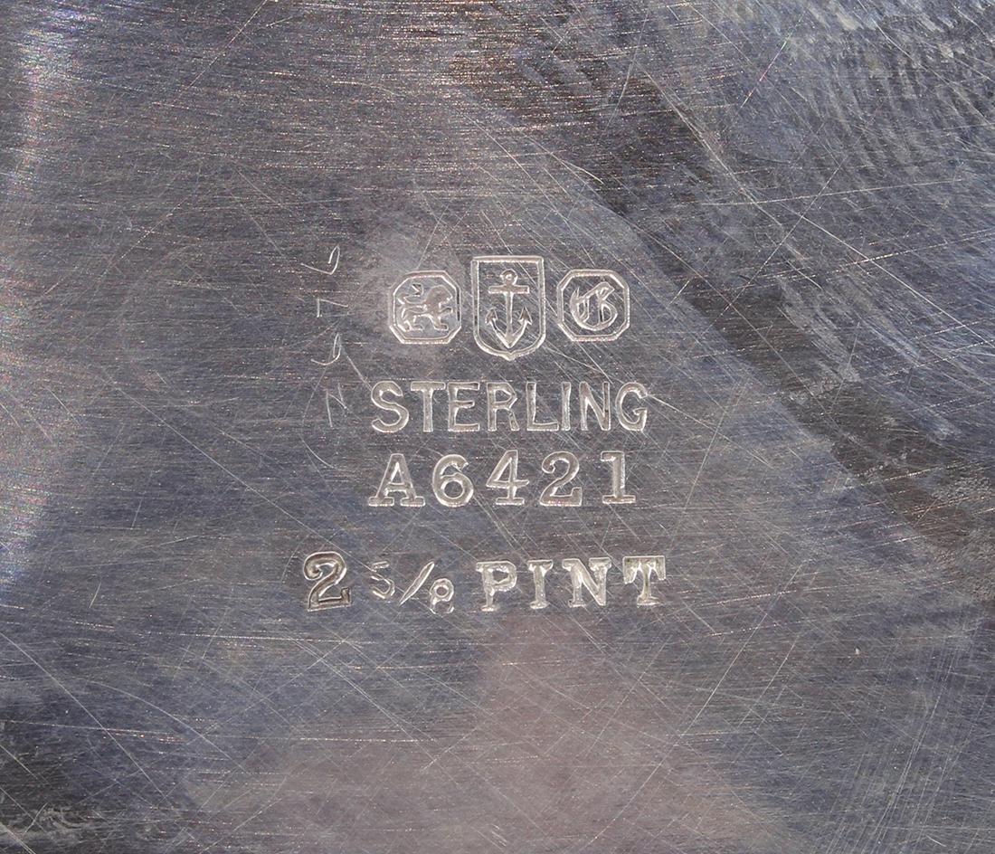 Gorham sterling silver hot water pot - 3
