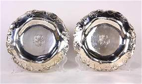 Pair of Martele silver footed dishes