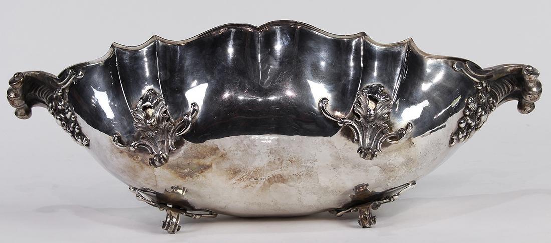 Italian .800 silver fruit bowl - 4