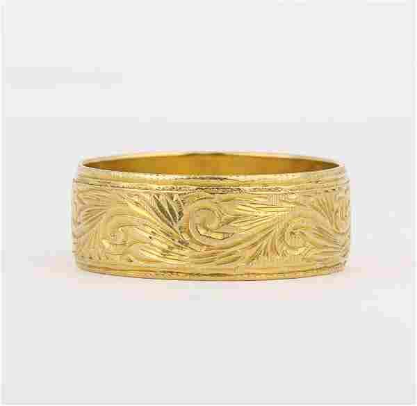 18k yellow gold band