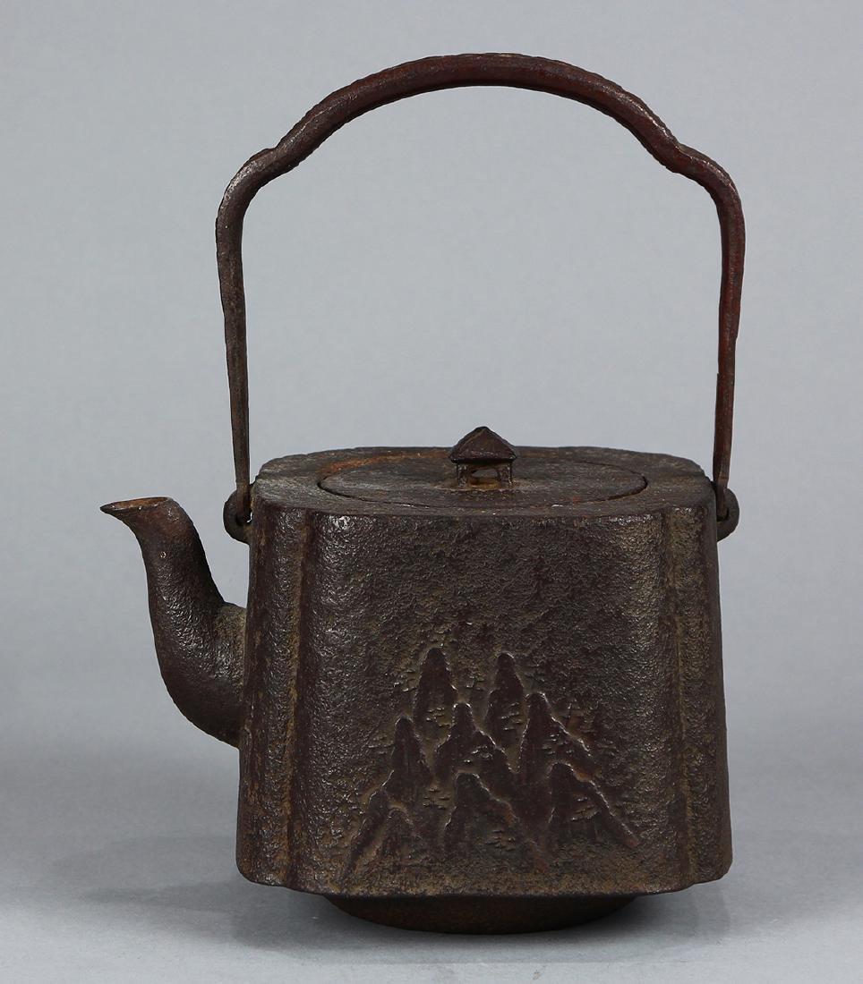 Japanese Iron Tetsubin Kettle, 19c