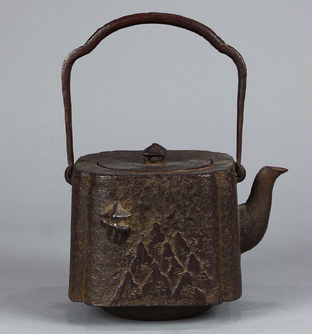 Japanese Iron Tetsubin Kettle, 19c - 3